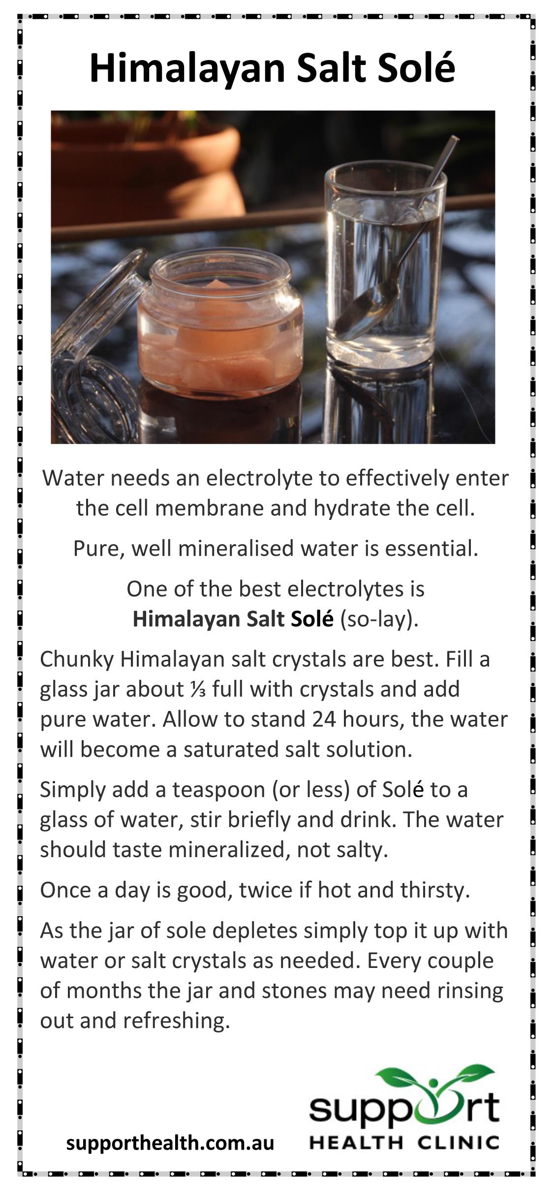 sole salt hydration